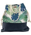 Basic me 15 fabric handbag - blue palm trees