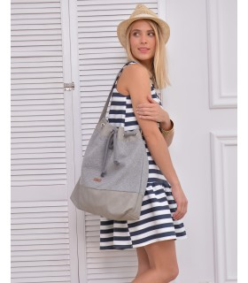 Basic me 16 bag made of eco leather in gray