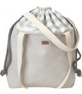 """Basic me 19 """"Duo stripes"""" bag with bright stripes"""