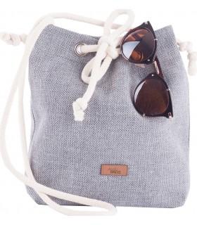 Mała tkaninowa torebka basic szara