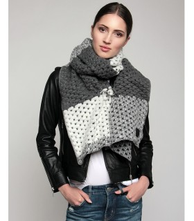 Woolen scarf three gray colors