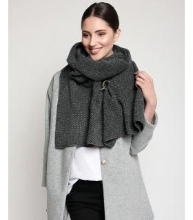 Woolen scarf ash