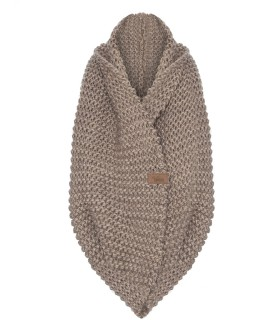 Woolen scarf basic light brown