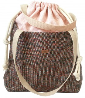 "Basic me 19 ""Duo stripes"" bag pale pink"