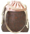 "Basic me 19 ""Duo stripes"" fabric bag pale pink"